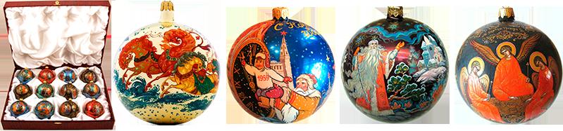 Новогодние шары с индивидуальной ручной росписью - Fedoskinotoday.com