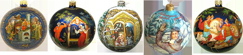 Новогодние шары с ручной росписью - Fedoskinotoday.com