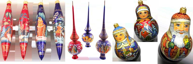 Новогодние изделия с ручной росписью - Fedoskinotoday.com