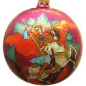 Расписной новогодний шар - Георгий Победоносец