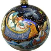 Расписной новогодний шар - Палех